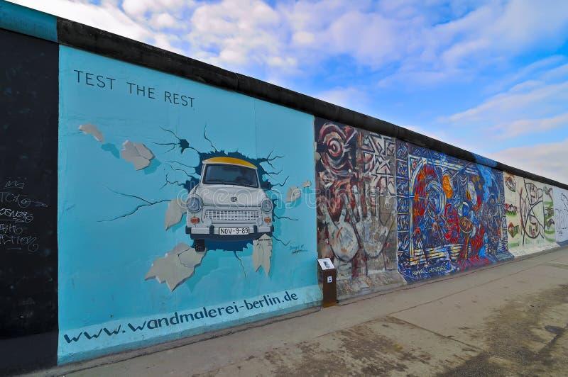 berlin vägg arkivbilder