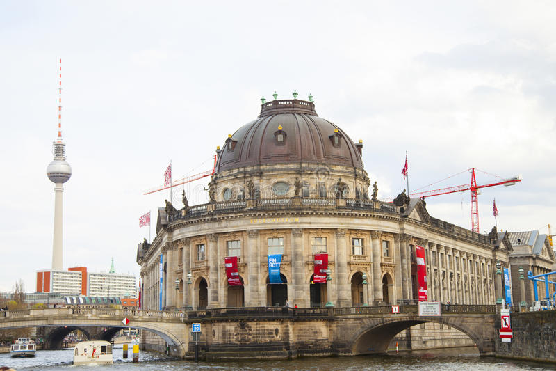 berlin varslar museet royaltyfri fotografi