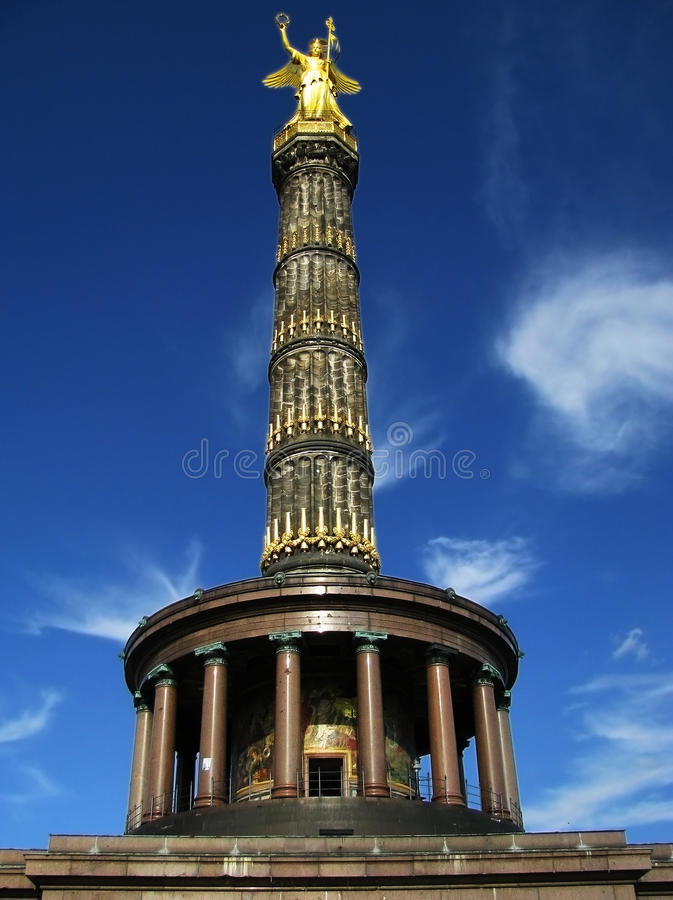 Berlin Victory Column 1. Historic Victory Column in Berlin royalty free stock photos