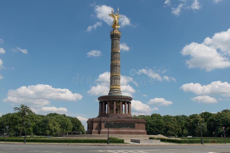 Berlin Victory column. Victory column in Berlin after reconstruction stock photo