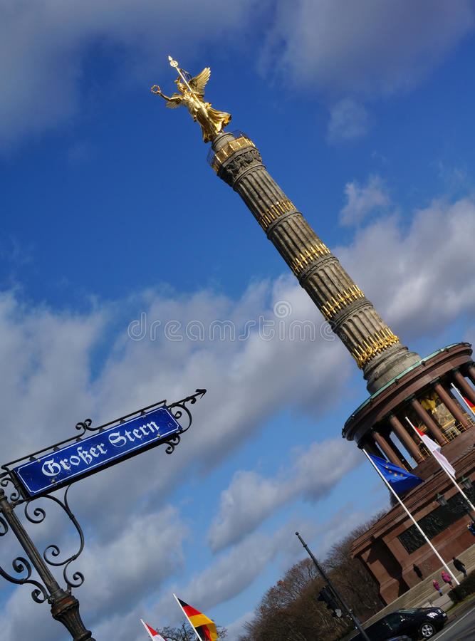 Download Berlin Victory Column stock photo. Image of statue, street - 30346110