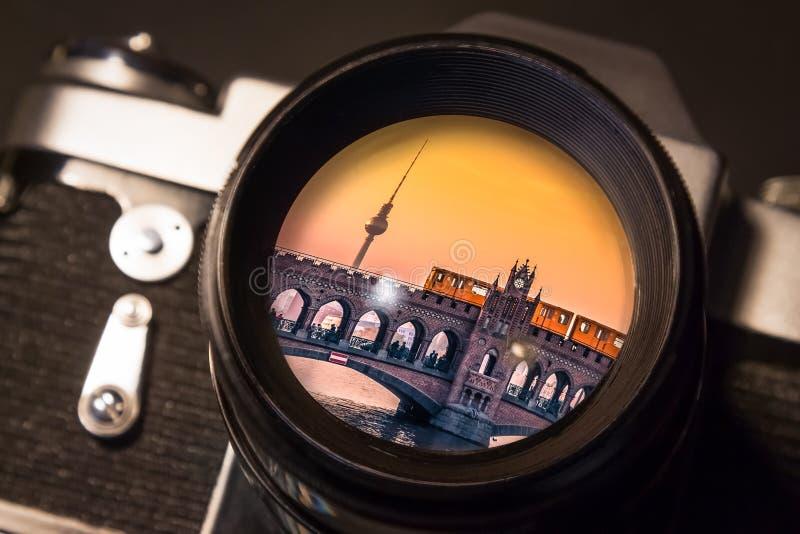 Berlin Vintage Reflection stock images
