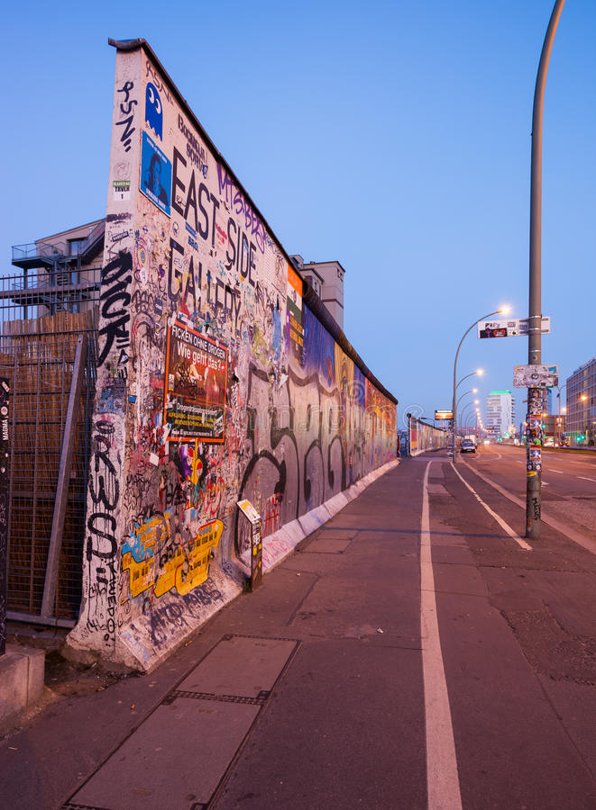 berlin wall obrazy royalty free