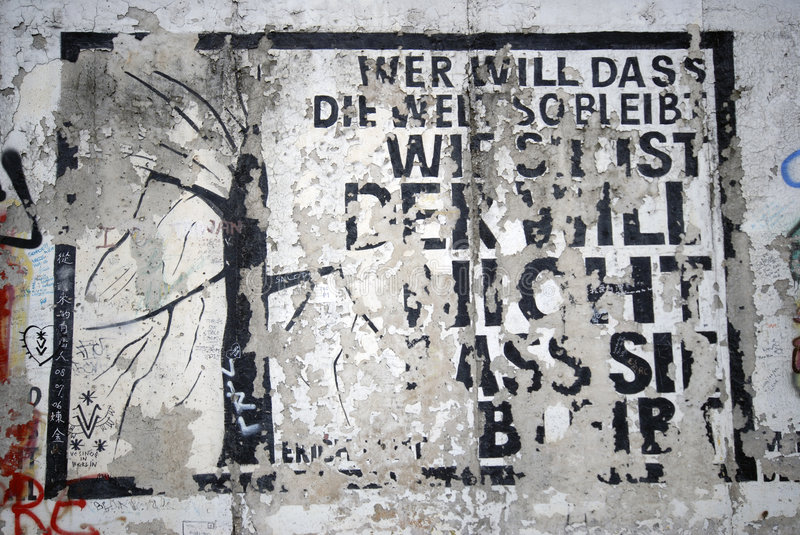 Download Berlin Wall editorial stock photo. Image of message, drawing - 8465788