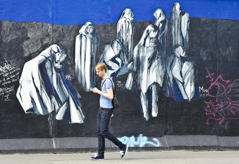 Berlin Wall, Berlim, Alemanha imagens de stock