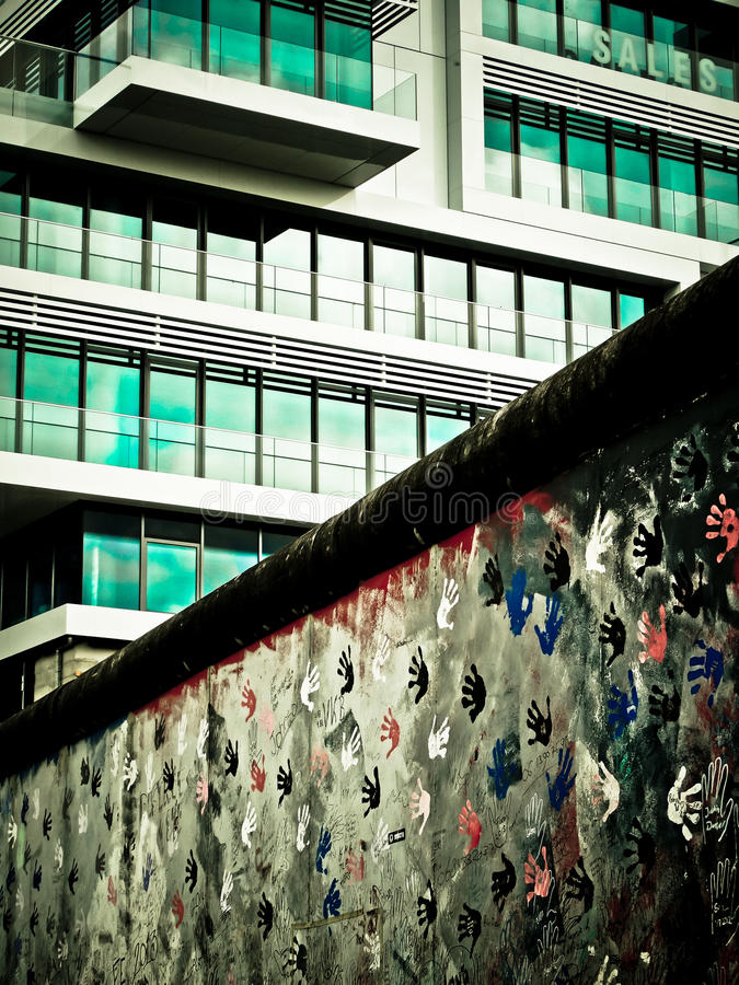 The Berlin Wall royalty free stock photos