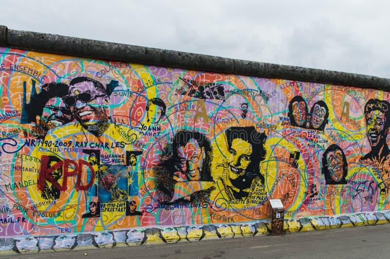 Berlin Wall Detail foto de archivo
