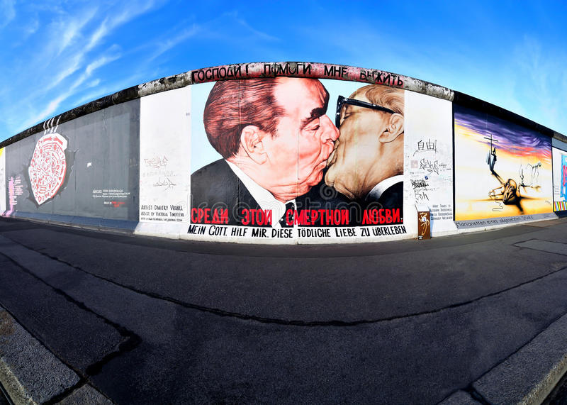 Berlin wall east side gallery royalty free stock photos