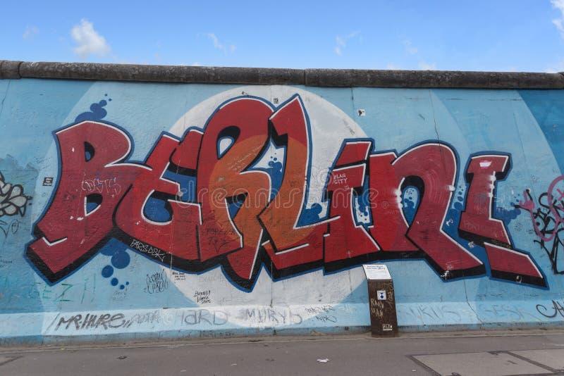 Berlin wall / east side gallery graffiti royalty free stock photo