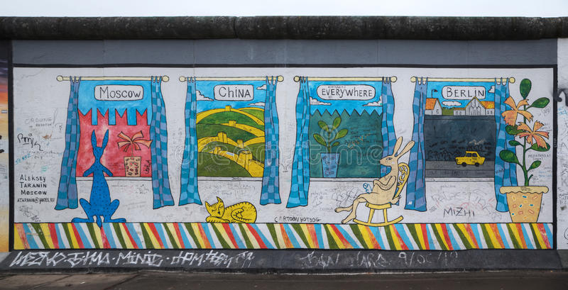 Berlin Wall em Alemanha foto de stock