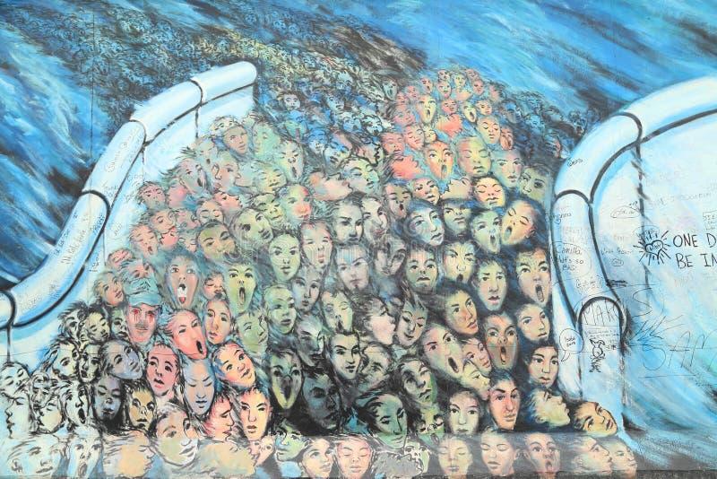 Berlin Wall Fragment imagen de archivo libre de regalías