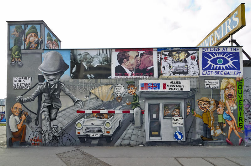 Berlin wall, germany royalty free stock images