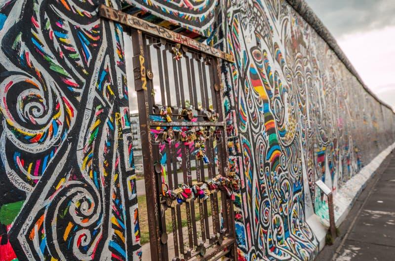 Berlin Wall Germany stock afbeelding