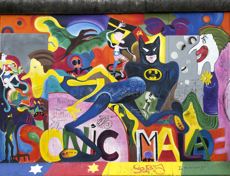 Berlin wall. royalty free stock images