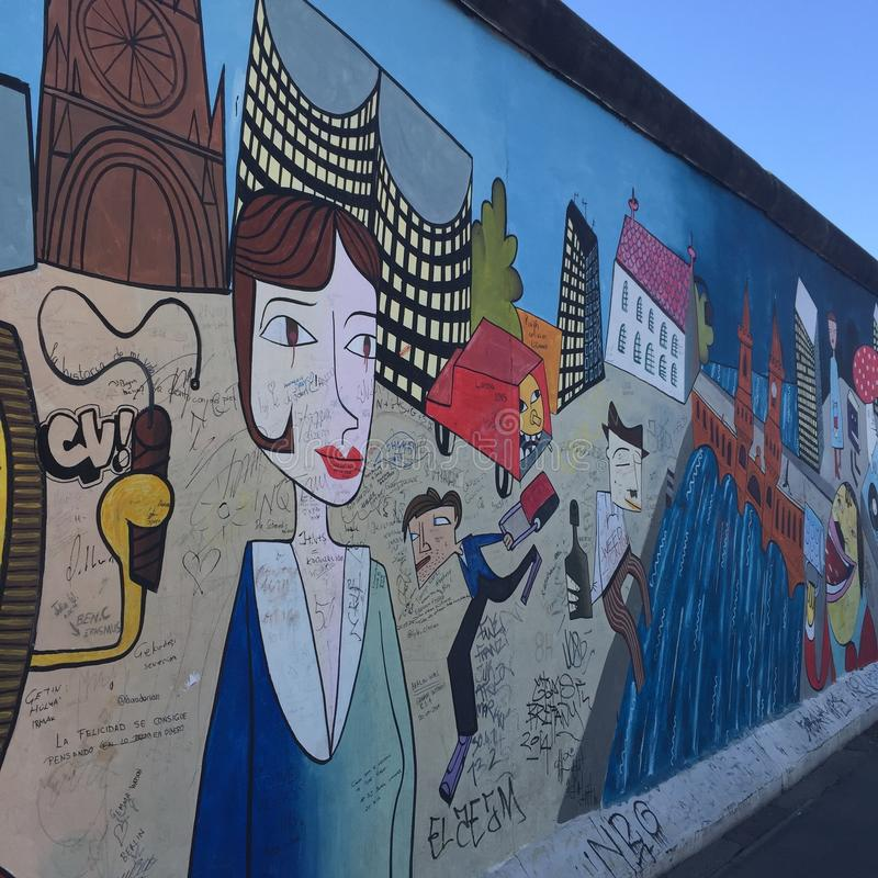 Berlin Wall Germany Graffiti photographie stock libre de droits