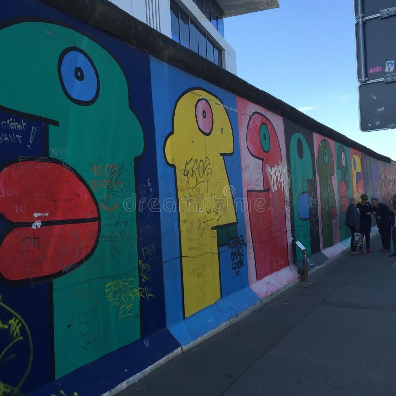 Berlin Wall Germany Graffiti images stock