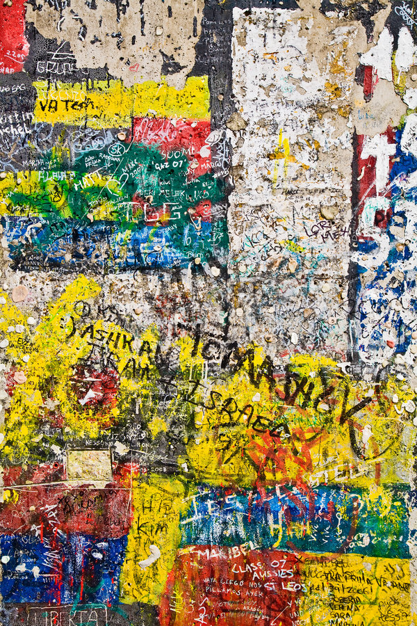 Berlin Wall Graffiti stock photo. Image of graffiti, blue - 5421246