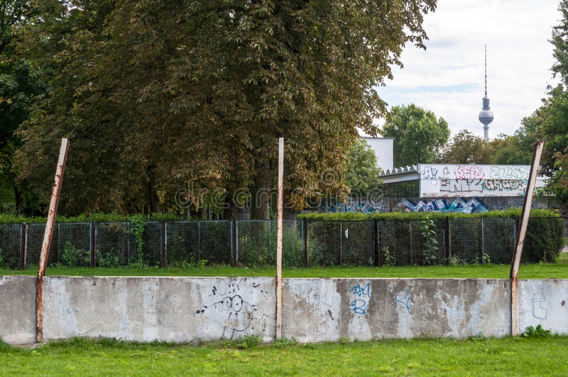 Berlin Wall Memorial immagine stock