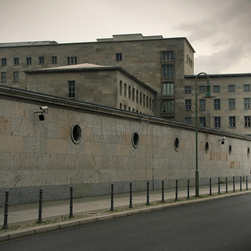 Berlin Wall memorial. Berlin, Germany. July 13, 2014. Some moody building near of Berlin Wall memorial. Berlin, Germany royalty free stock photography