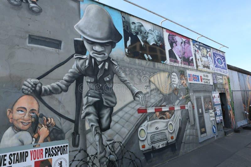 Berlin Wall Murals imagen de archivo