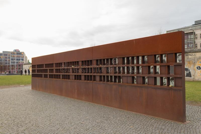 Berlin wall victims monument winter cloudy sky royalty free stock photos