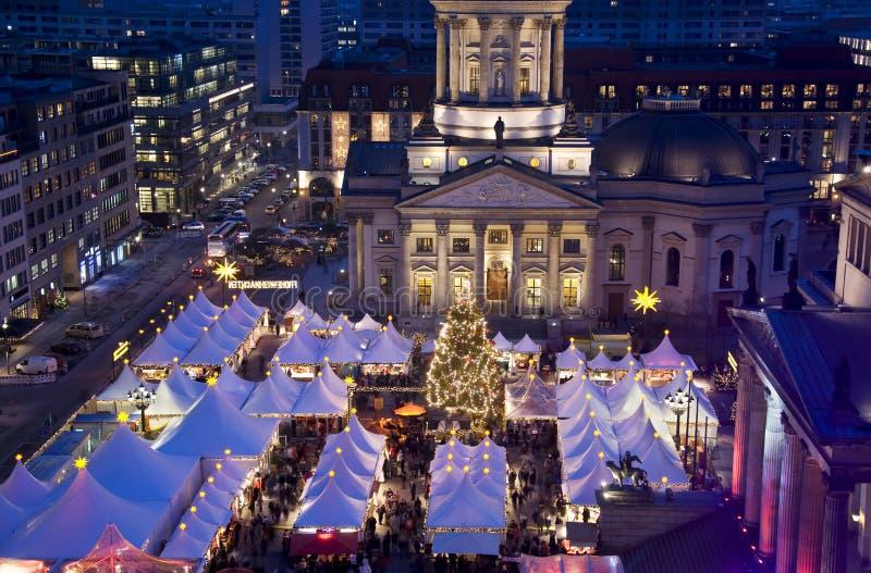 Berlin-Weihnachtsmarkt stockbild