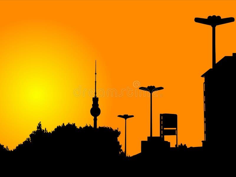 berlin wieży ilustracja wektor