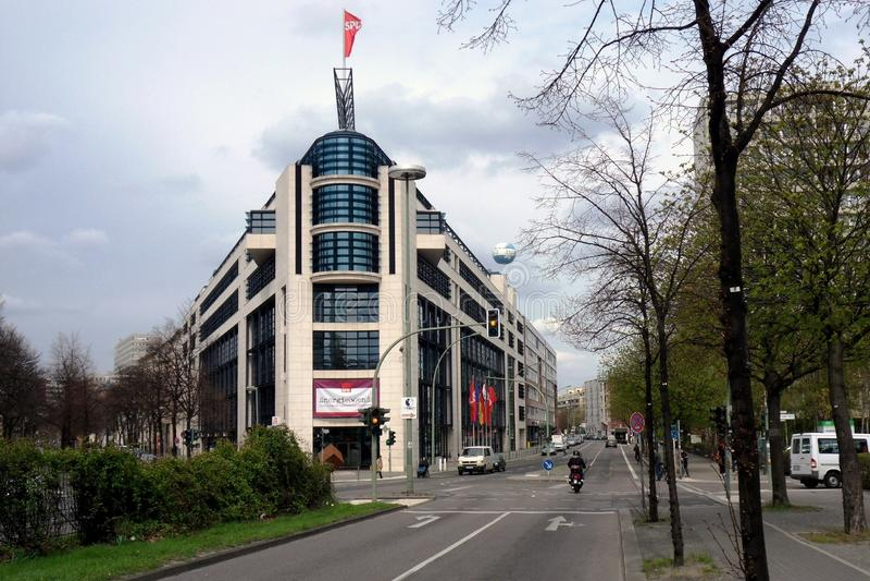 Berlin, Willy Brandt dom - fotografia stock