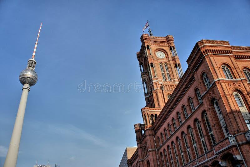 Berlin Zentrum und Fernsehturm lizenzfreies stockbild