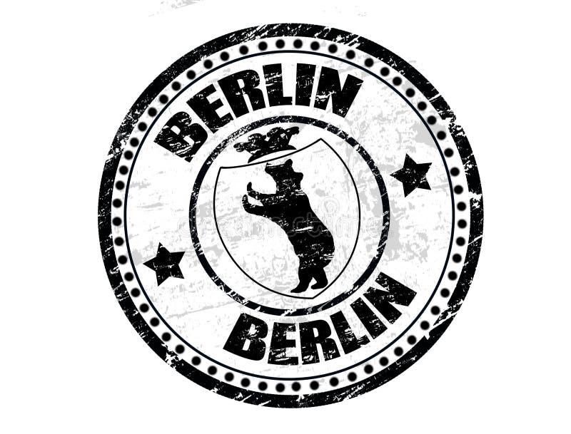 berlin znaczek royalty ilustracja