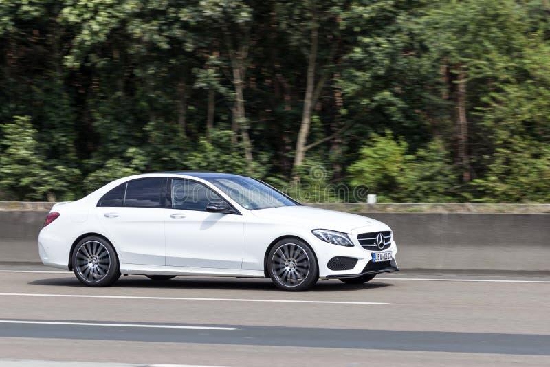 Berlina classa c di Mercedes Benz fotografia stock