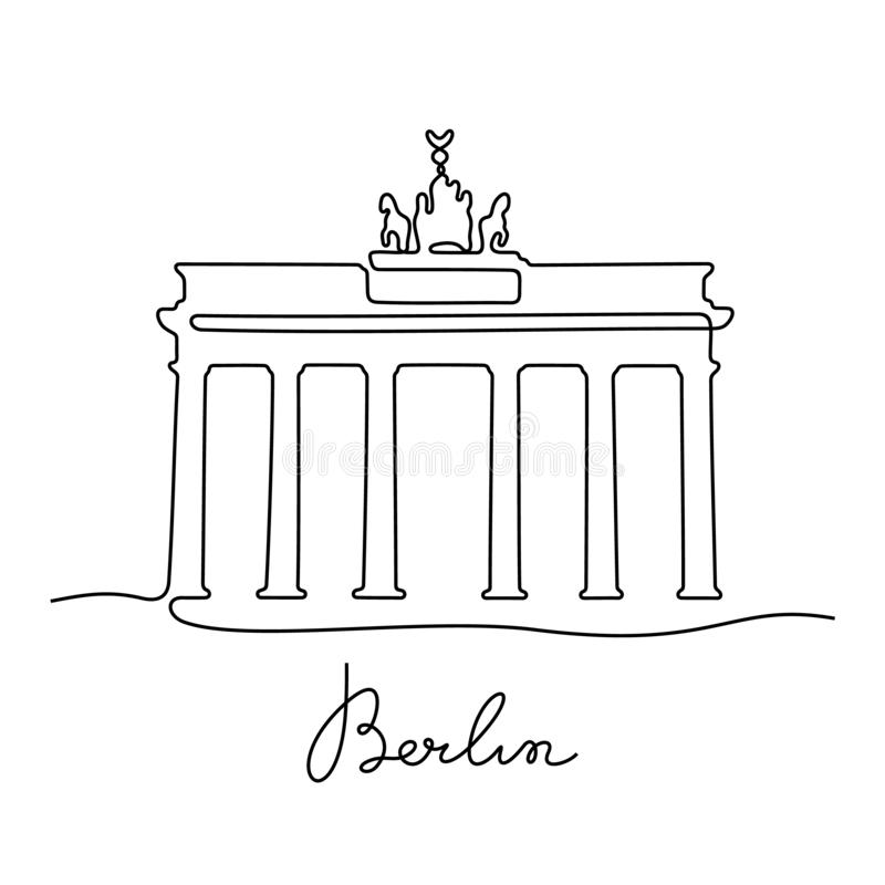 Berline实线传染媒介例证 皇族释放例证