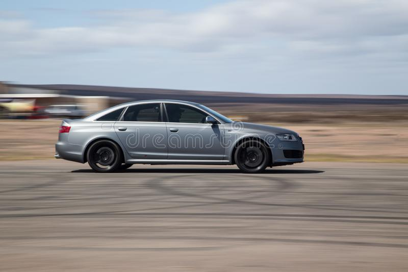Berline de Matt Grey Audi RS6 photographie stock