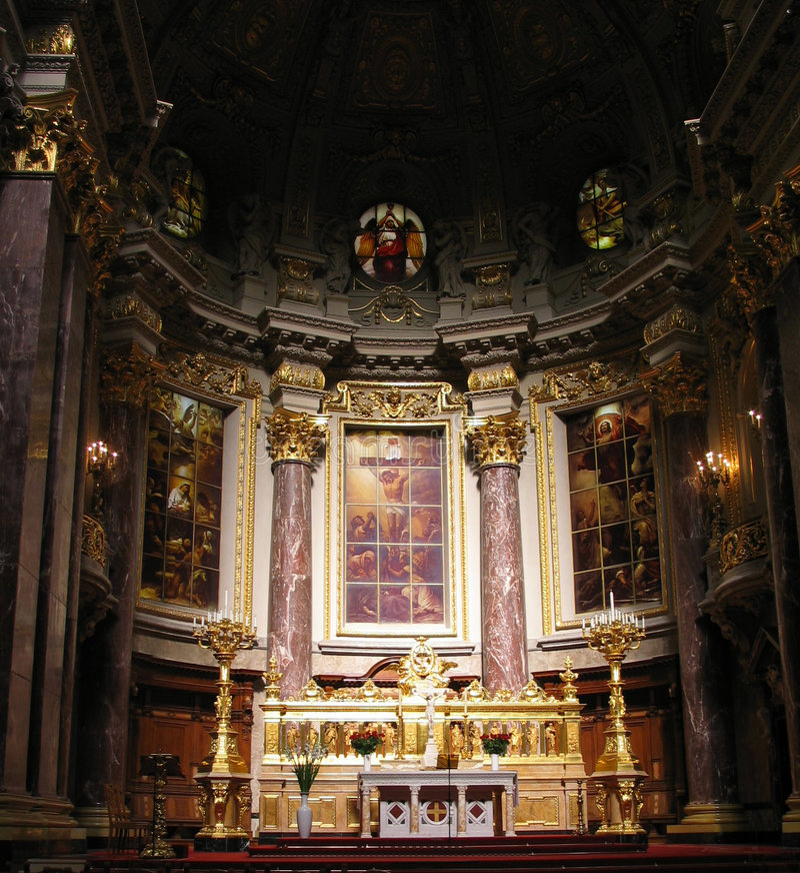 Berliner Dom Altaar royalty-vrije stock foto