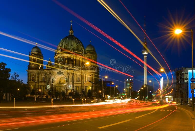 Berliner Dom of Berlin Cathedral in Duitsland stock foto