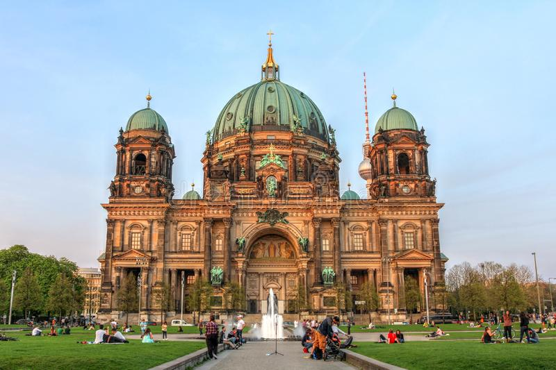Berliner Dom, Berlin, Germany. Berlin Cathedral or Berliner Dom, or Evangelical Supreme Parish and Collegiate Church, Berlin, Germany stock image