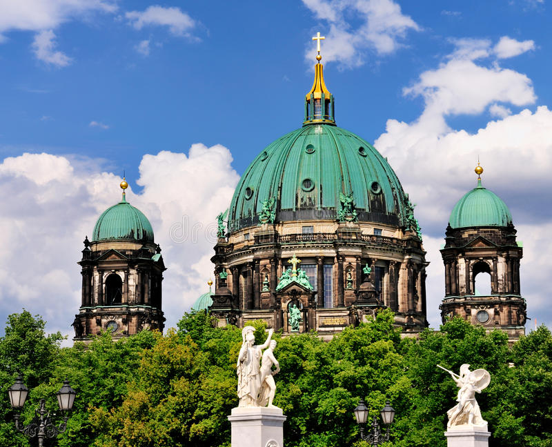 Download Berliner Dom, Germany stock photo. Image of trees, decorated - 20929676