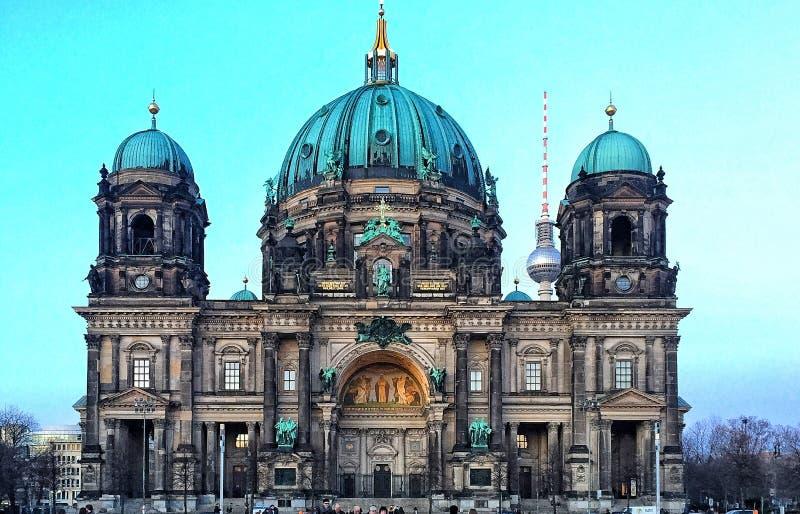 Berliner Dom voorgevel royalty-vrije stock afbeelding