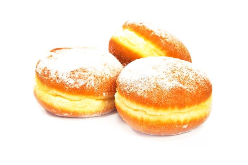 Berliner Donuts isoliert auf weißem Grund lizenzfreie stockbilder