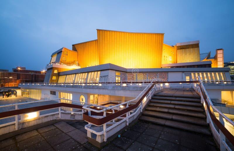 Berliner Philharmonie royaltyfria bilder
