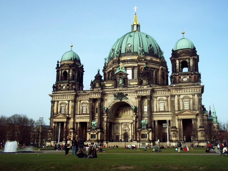 BerlinerDom i vår royaltyfria bilder