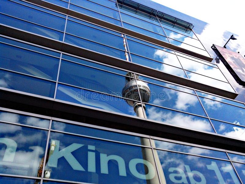 Berlino blu immagini stock