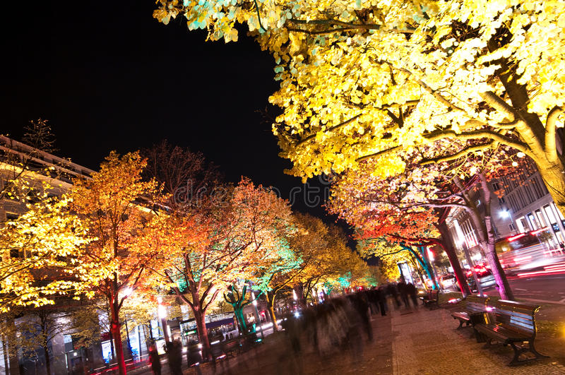 Berlino, festival degli indicatori luminosi fotografie stock