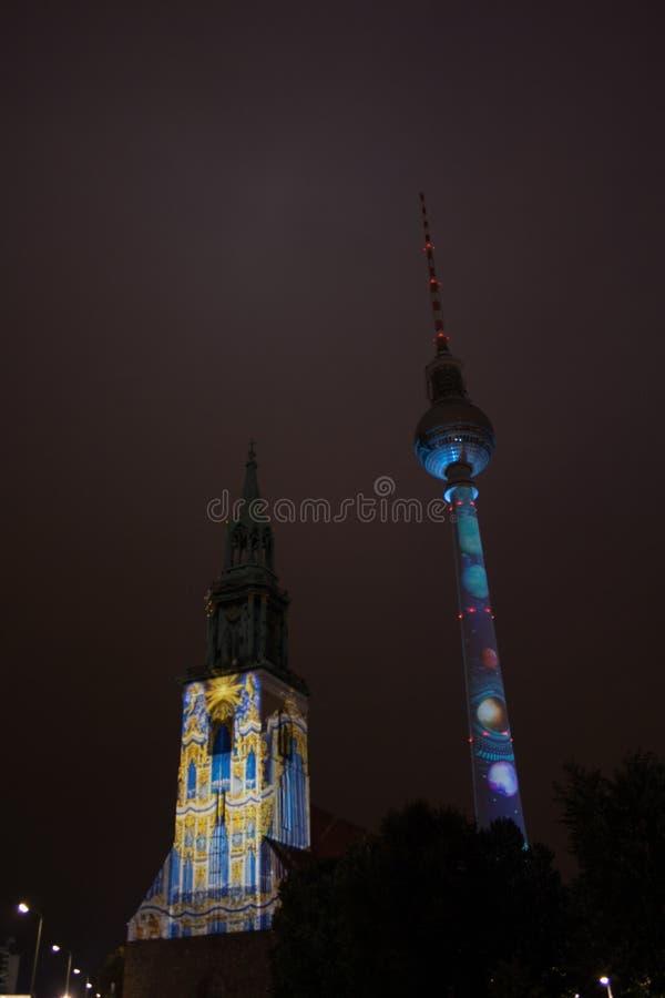 Berlino, Germania - 11 ottobre 2017: Chiesa del ` s di St Mary e il Te immagini stock libere da diritti