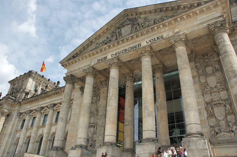 Berlino, il Bundestag tedesco - Reichstagsbuilding immagine stock libera da diritti