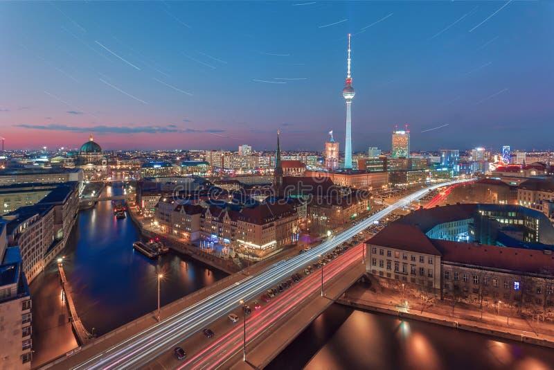 Berlino la maggior parte della vista popolare del lansdascape fotografia stock libera da diritti