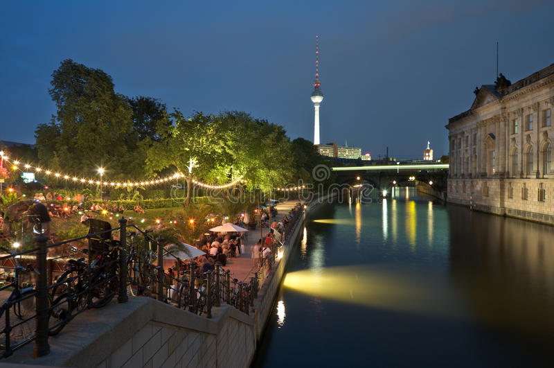 Berlino, Strandbar, Museumsinsel fotografia stock libera da diritti