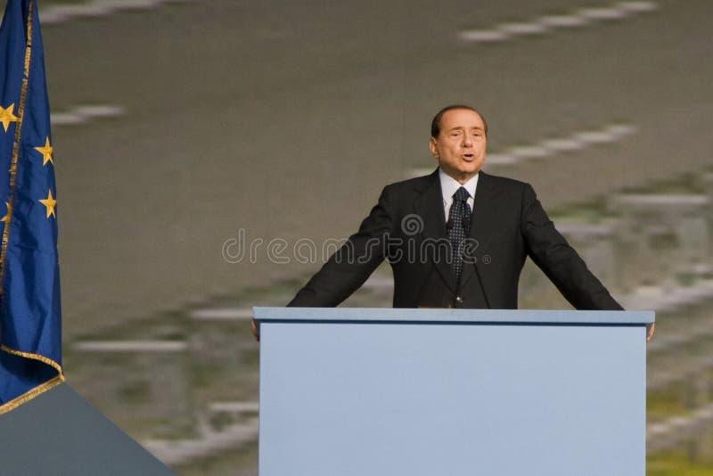 Berlusconi 2 stock afbeeldingen
