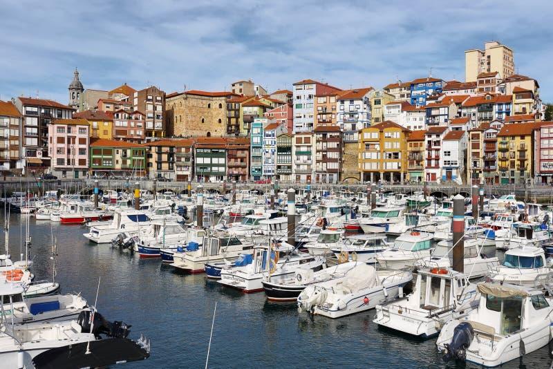 Bermeo in Baskisch Land royalty-vrije stock afbeeldingen
