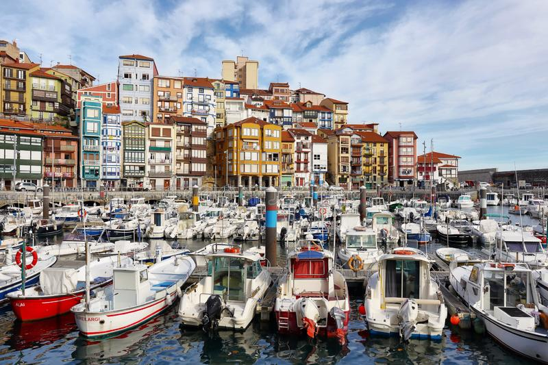 Bermeo is a small fishing village in the Basque Country, Spain stock images